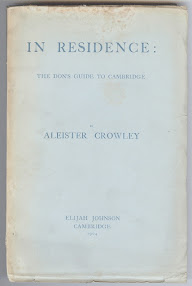 Cover of Aleister Crowley's Book In Residence The Dons Guide to Cambridge