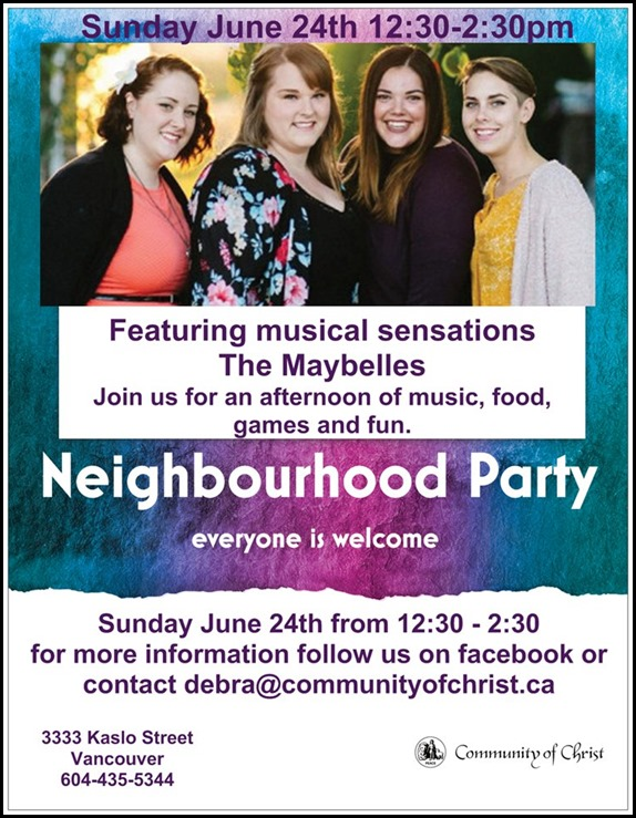 Neighbourhood Party Flyer