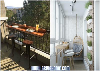 Balkon sebagai ruang makan ekstra