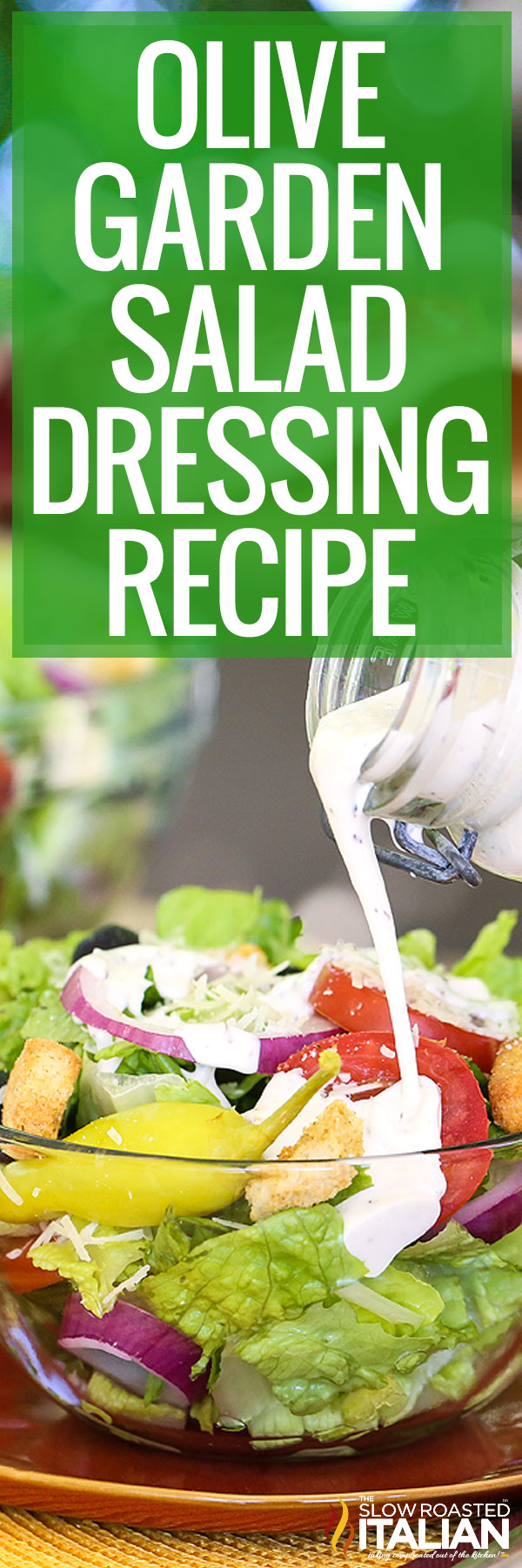 Olive Garden Salad Dressing Recipe closeup