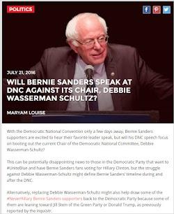 20160721_ Will Bernie Sanders Speak At DNC Against Its Chair, Debbie Wasserman Schultz.jpg