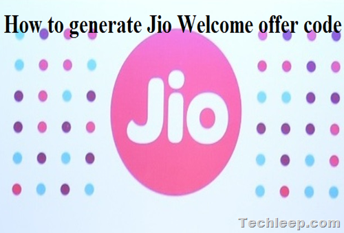 generate Jio Welcome offer code and get Free JIO sim