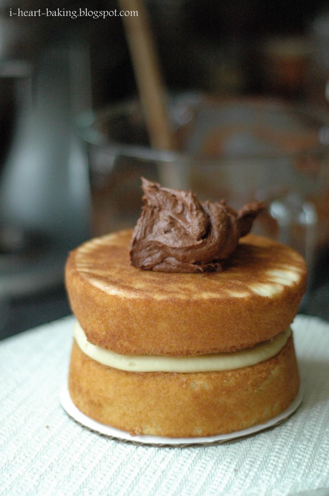 heart baking!: boston cream pie inspired birthday cake