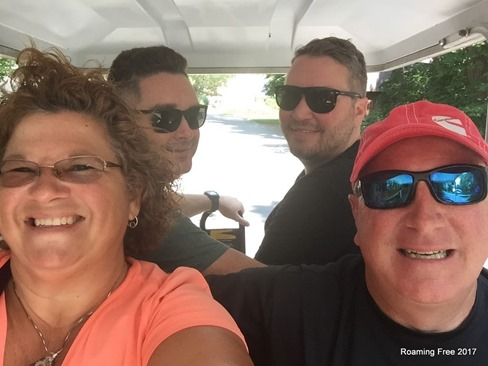 Cruising in the golf cart
