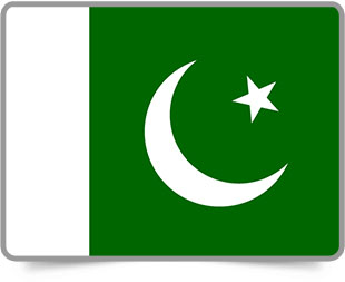 Pakistani framed flag icons with box shadow