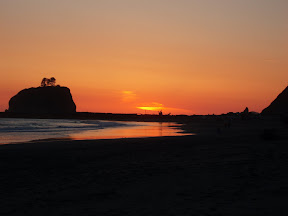 Sunset on First Beach, La Push, WA. (May 19, 2011)