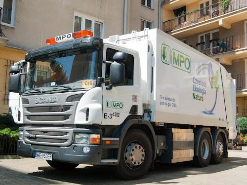 Scania P270 CNG jako śmieciarka na gaz w MPO Warszawa