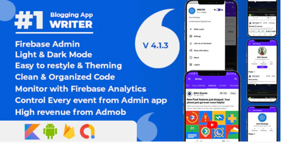 Blogging App Writer  App  Source Code