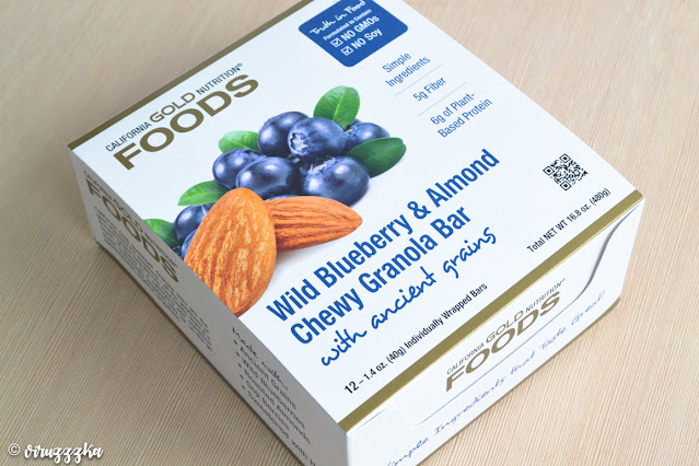 California Gold Nutrition Foods Chewy Granola Bars Wild Blueberry & Almond