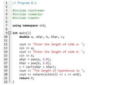 (PDF) Modul Praktikum Fungsi Bahasa Pemrograman C/C++ | LAB 8