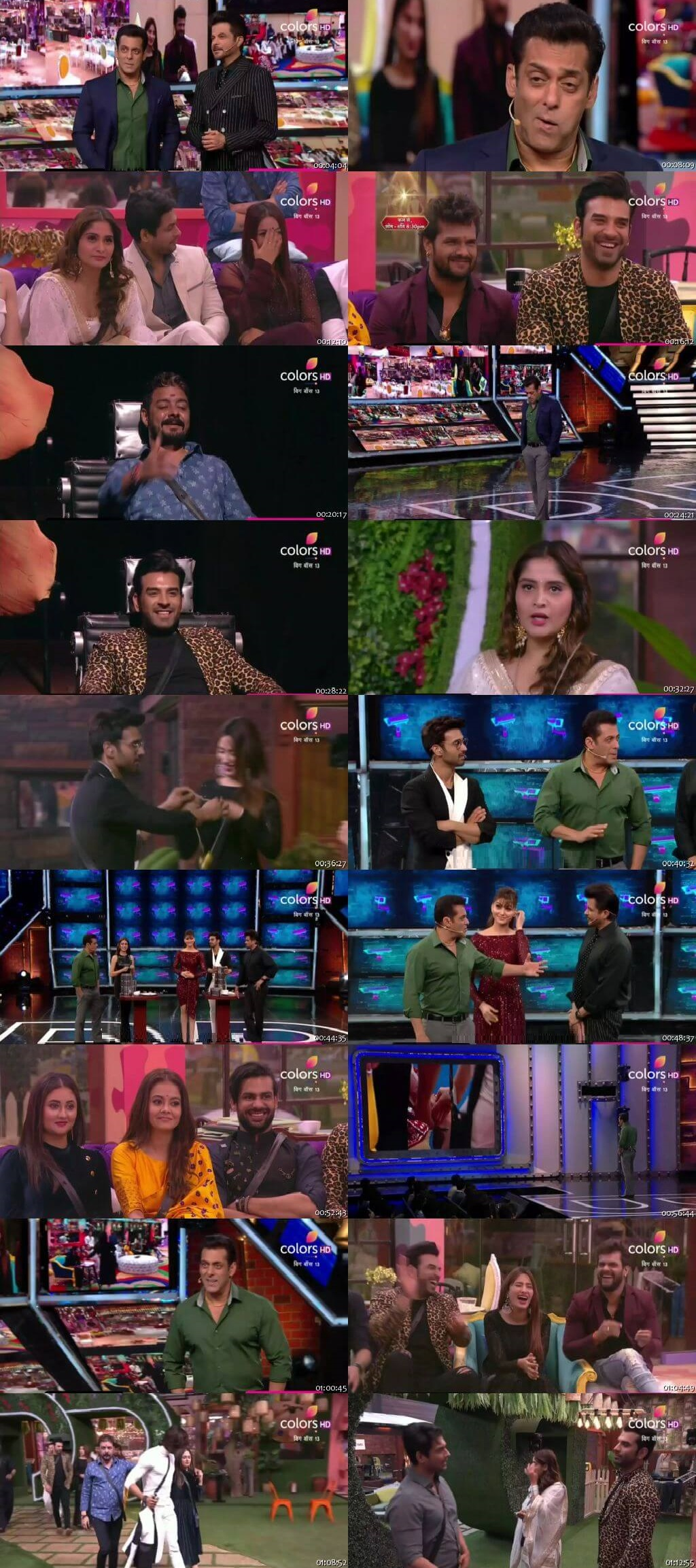 Screenshots Of Hindi Show Bigg Boss 13 17th November 2019 Episode 48 300MB 480P HD