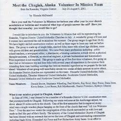 Missions 2001-07 Chugiak Alaska
