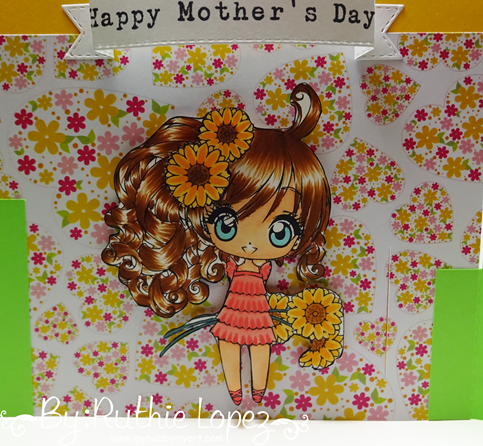 Latinas Arts and Crafts - The Cuttiing Cafe - Make it Crafty - Bendi Card - Ruthie Lopez 4
