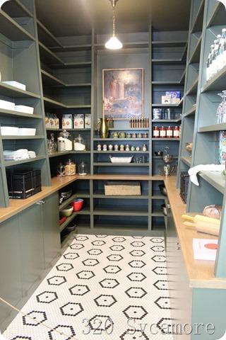 green modern pantry