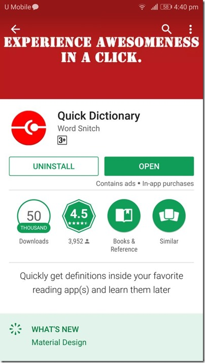 Quick Dictionary