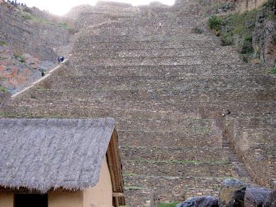 Inca ruins in Ollantaytambo Peru