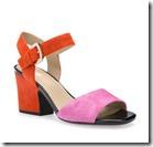 Geox Pink and Orange Suede Sandal - Blue and Yellow also