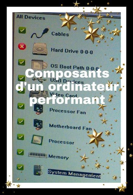 Les caractéristiques de la performance d'un PC portable ou bureau
