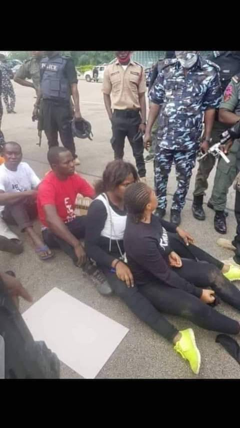 Police Parade Men And Women In Awka After Been Caught With 4 Heads