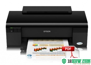 How to reset flashing lights for Epson C120 printer