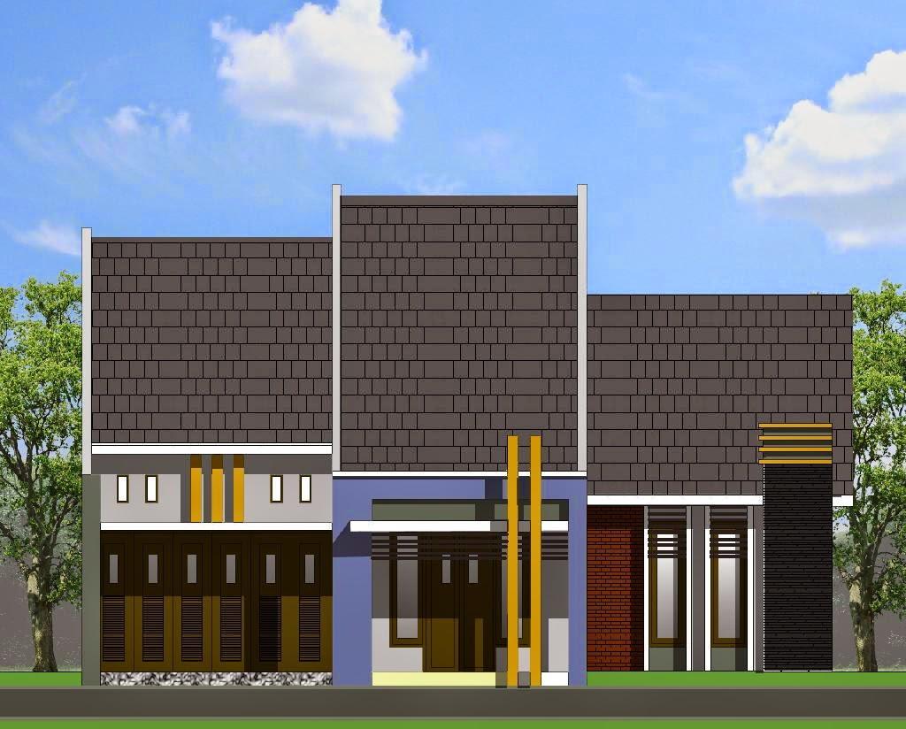 contoh desain depan rumah gallery taman minimalis