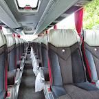 Het interieur van de Mercedes Tourismo van Kras Reizen