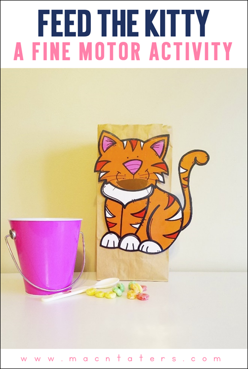 Feed The Kitty Fine Motor Activity