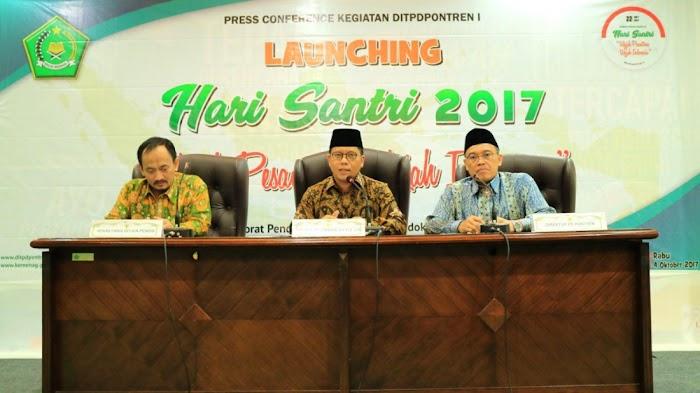 """Hari Santri 2017, Kemenag Usung Tema """"Wajah Pesantren, Wajah Indonesia"""", Ini Agendanya..."""