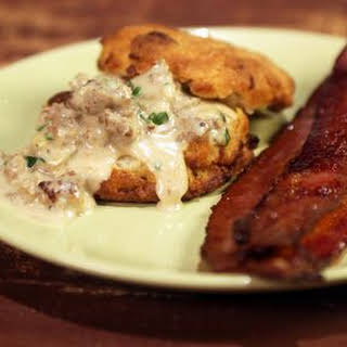 Gravy & Bacon Biscuits.