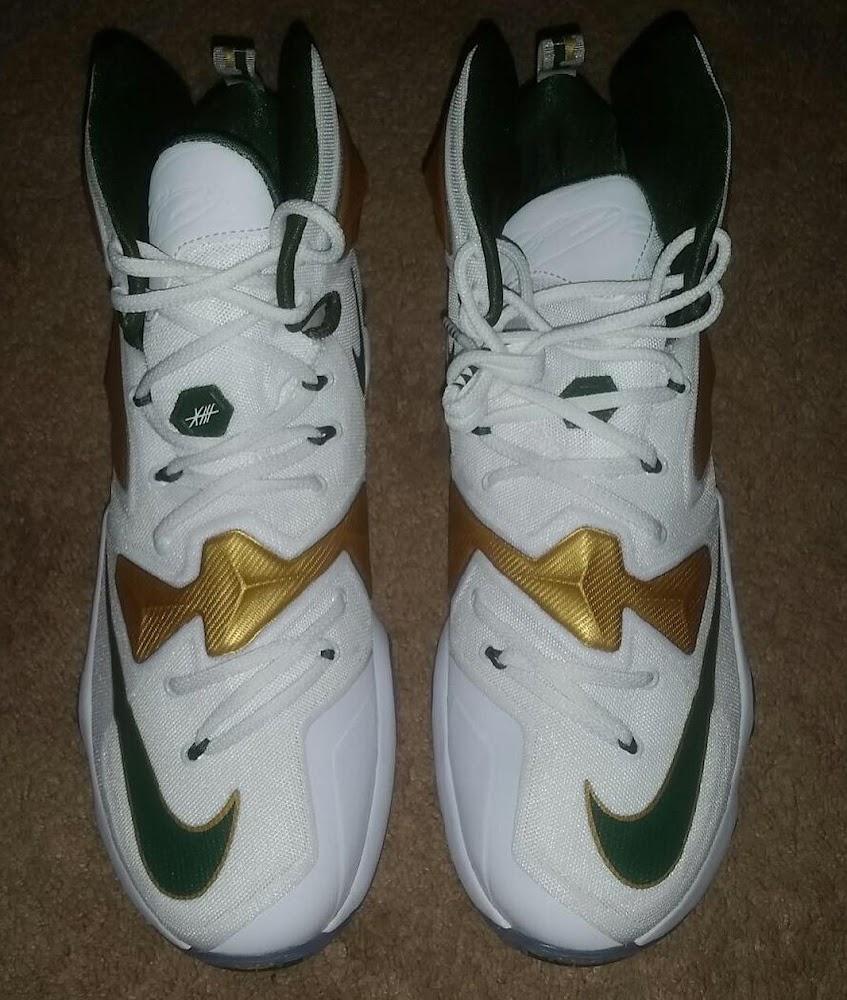 premium selection e3d10 e99e3 ... First Look at Nike LeBron 13 SVSM Home PE ...