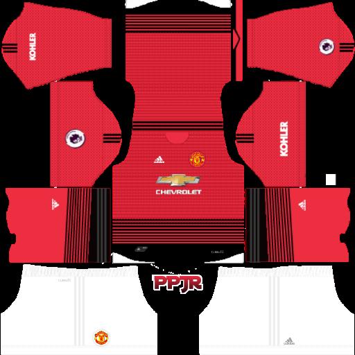 buy popular 84dc4 d9c0e Manchester United New Kits Mod BPL 2018-19 (DLS 18 & FTS ...