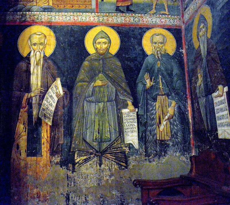 11. Byzantine fresco. XIV Century. The Monastery St. Gabriel of Lesnovo and St. Archangel Michail