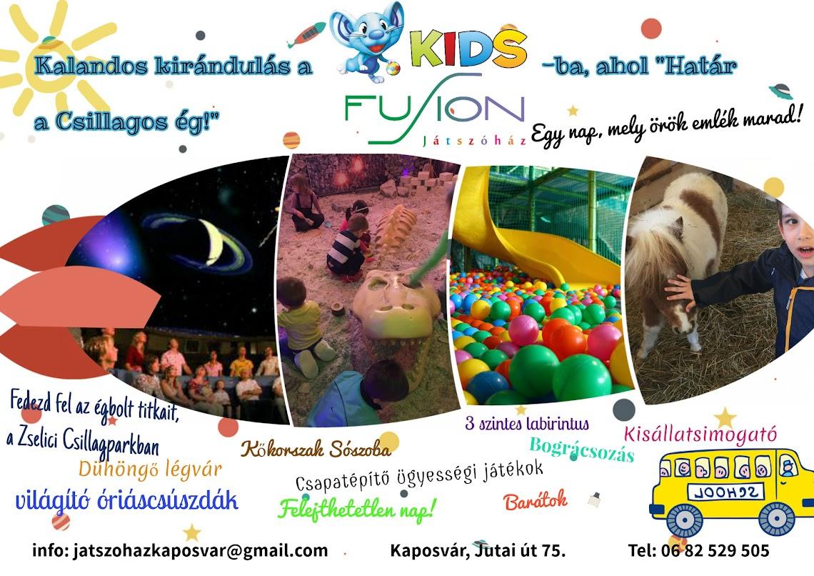Kalandos kirándulás a Kids Fusion Játszóházba Kaposvár