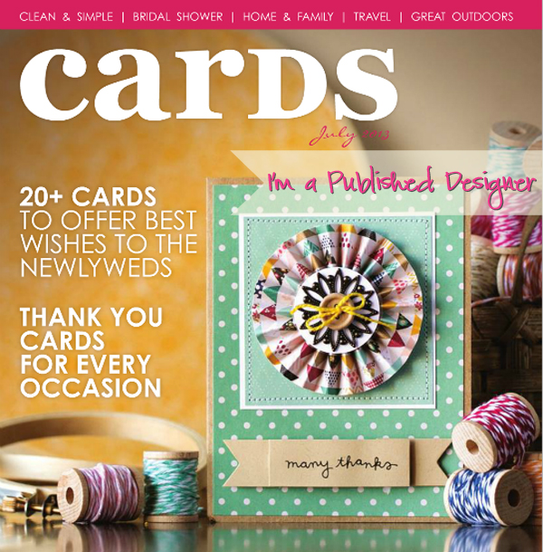 cards magazine july published thank you card