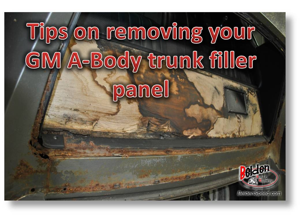 A Body Trunk Filler Panel How To Remove It Belden Speed