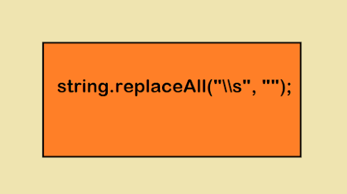 How to remove all white space from String in Java? Example