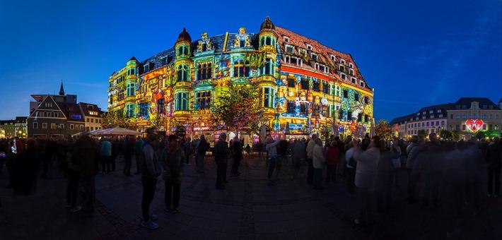 900JahreZwickau_FestivalofLights_Hauptmarkt_FrankHerrmann