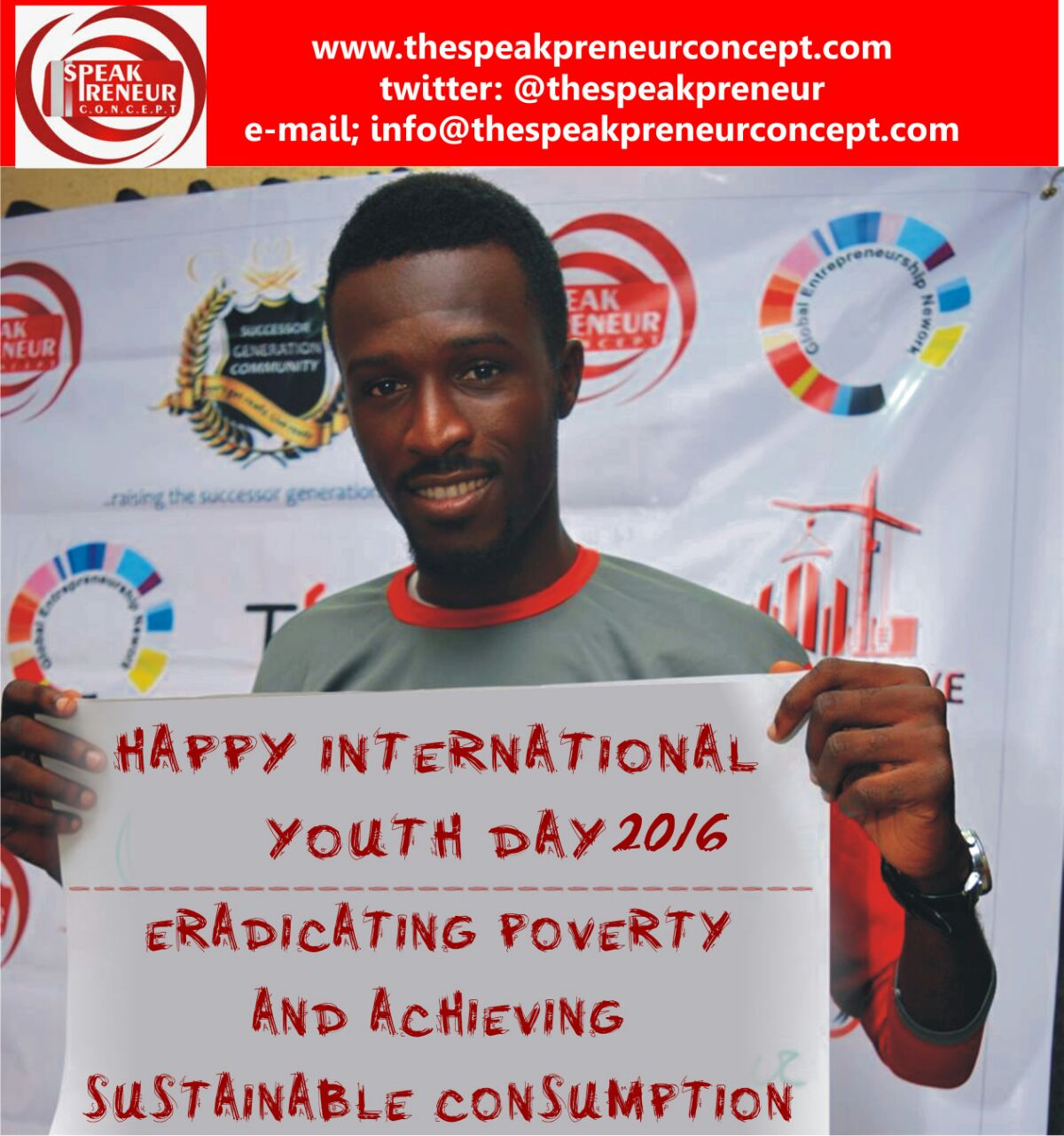 """International Youth Day 2016 - """"The Road to 2030: Eradicating Poverty and Achieving Sustainable Consumption and Production"""""""