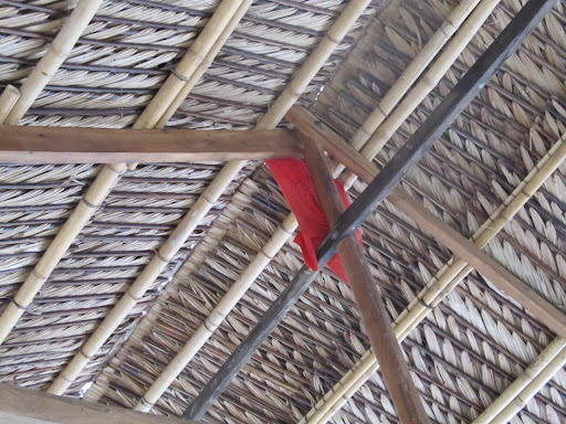 Leaf Roof Amp Bamboo Supports For A Roof Made Of Coconut Leaf