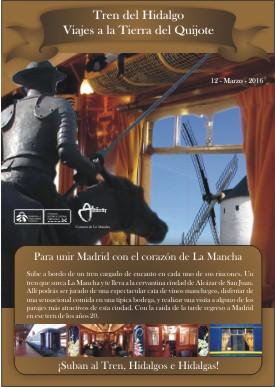 Tren del Hidalgo, de Madrid a Alcázar de Juan el sábado 12 de marzo de 2016