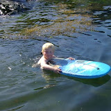 Svømmetur i Hardangerfjorden / Swimming in the Hardangerfjord / Schwimmen im Hardangerfjord