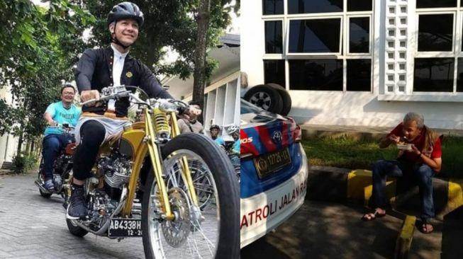Aksi Ganjar Makan di Pinggir Jalan Sampai Naik Motor Custom, Tiru Jokowi untuk Pilpres?