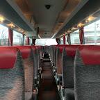 het interieur van bus 17 van Besseling