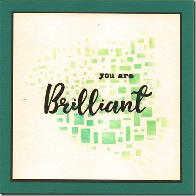 YOU ARE BRILLIANT 1