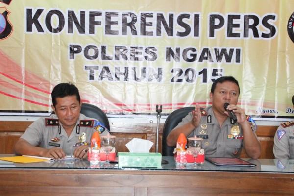 Sepanjang 2015,  Polres Ngawi Tuntaskan 6 Kasus Indisipliner Anggota