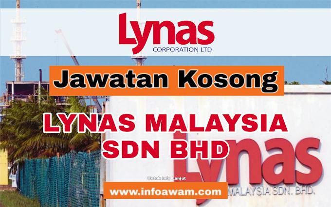 Jawatan Kosong Terkini Di LYNAS MALAYSIA SDN BHD