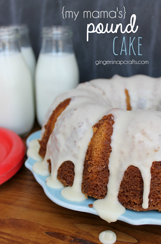 {my mama's} Pound Cake at GingerSnapCrafts.com #recipe   #milk_thumb