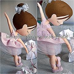 ballerina feltro in piedi