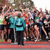 OIC - ENTSIMAGES.COM - Start of the Celebrity Race at the  Virgin Money London Marathon on Blackheath in London, England. 24th April 2016 Photo Mobis Photos/OIC 0203 174 1069