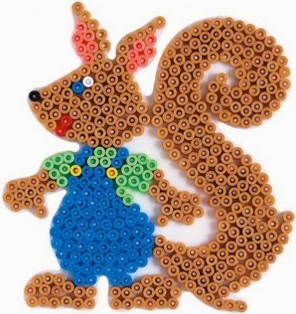Chú sóc con tươi vui, ngộ nghĩnh trong bộ Hama Squirrel Fun